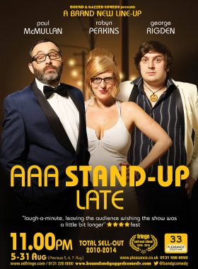 Comedy Poster AAA Late 1